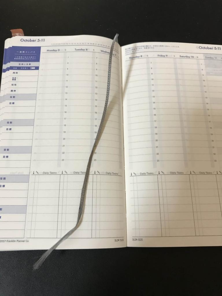週間計画(Weekly Goals)と一週間コンパスの設定