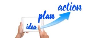 アイデア、計画、実行
