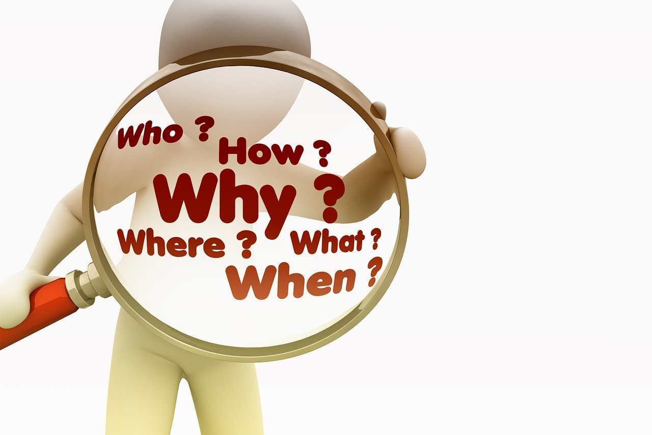 質問 誰 何 どのように なぜ 虫眼鏡 分析 問題 ソリューション どこ 通信手段 怒り