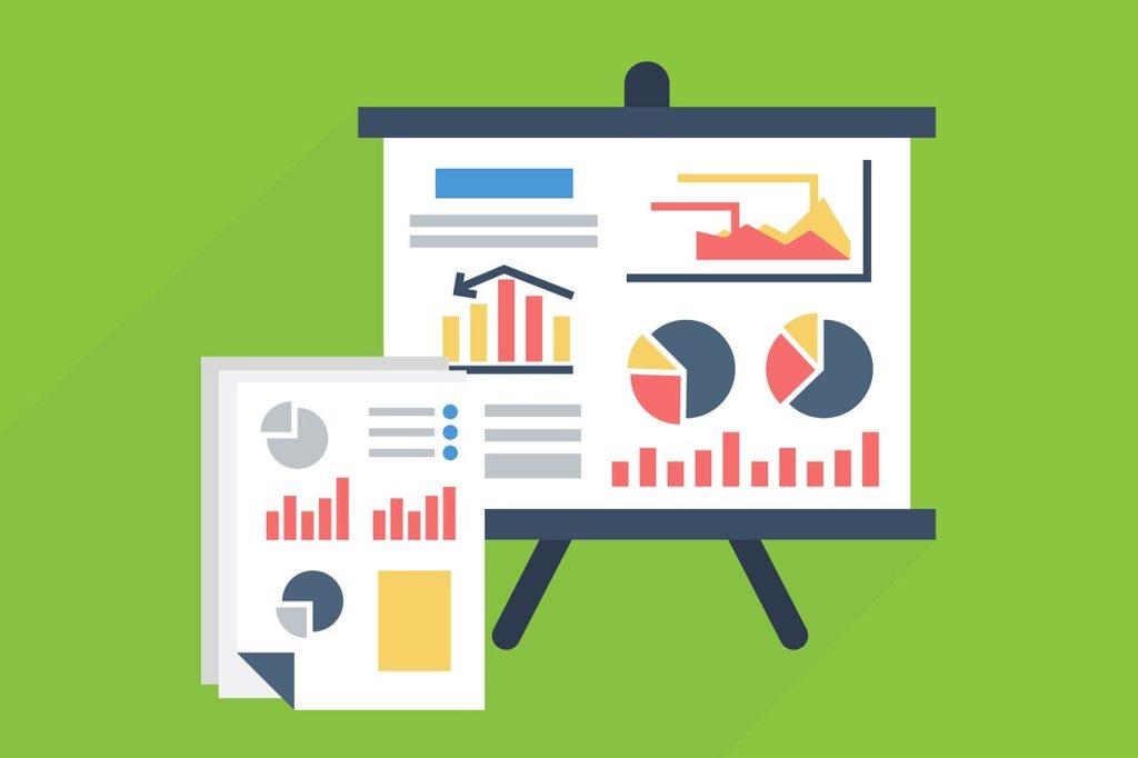 プレゼンテーション、統計 グラフ データ 情報 成長 図 解析 ファイナンス レポート 市場 株式