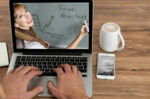 トレーニング,コース,学習開発,オンライン,ラップトップ,会議,Tv,ビジネス,技術